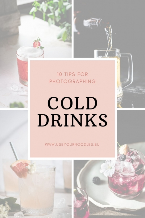 Photographing cold drinks is one of the toughest but also one of the most rewarding angles of food photography.