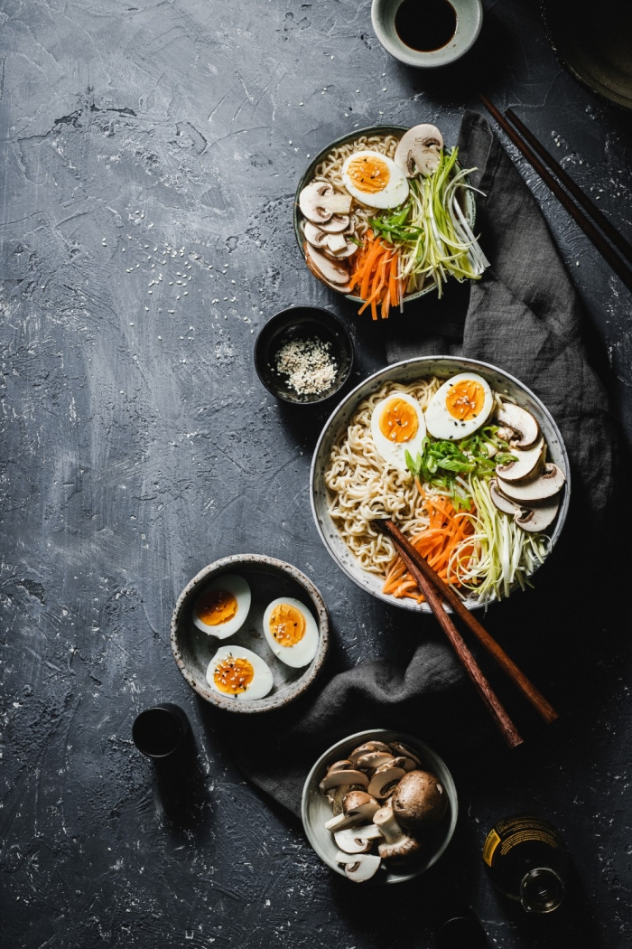 This easy ramen soup only takes 15 minutes to make and is super healthy with a beautiful deep miso flavor. With some added fresh vegetables this is a delicious and healthy meal.