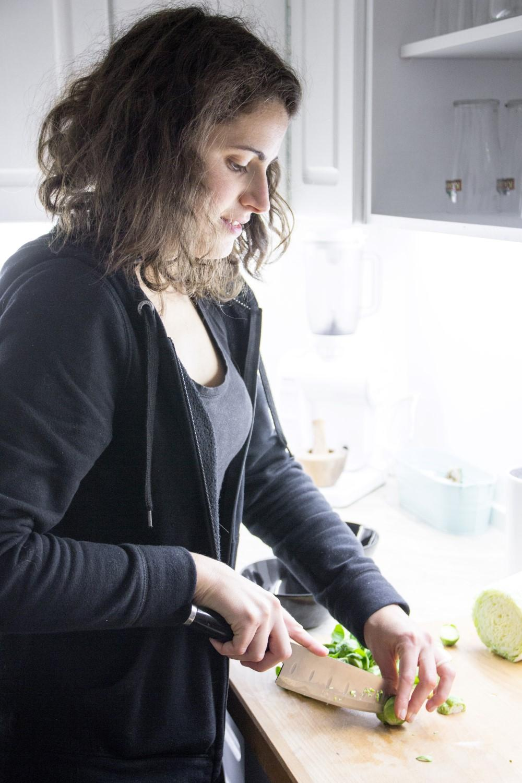Anja cooking