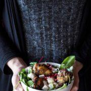 Turkish Chicken with Salad and Yoghurt Dip