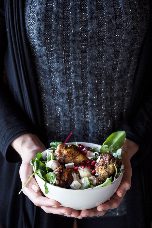 Turkish Chicken with Salad and Yoghurt Dip