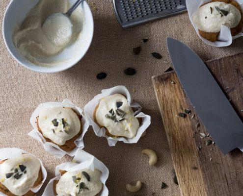Pumpkin Cupcakes With Cashew Cream Cheese Frostin