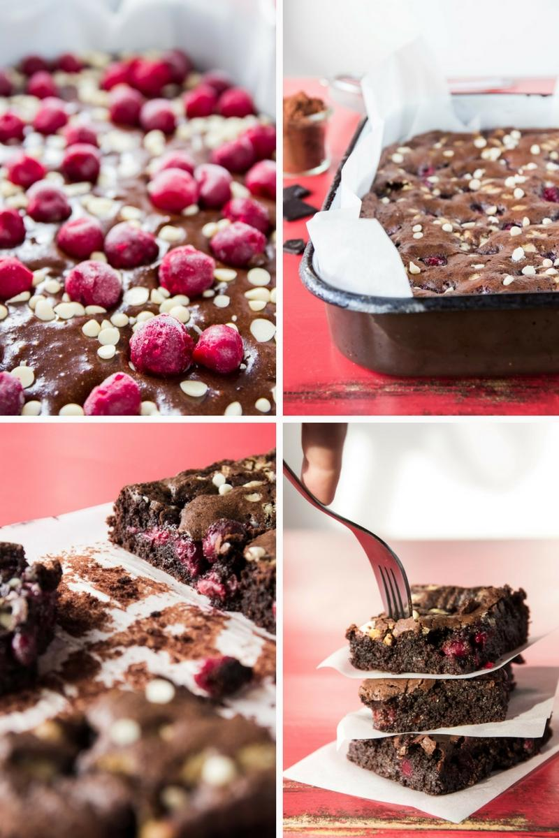 Use Your Noodles - Triple Chocolate Sour Cherry Brownies