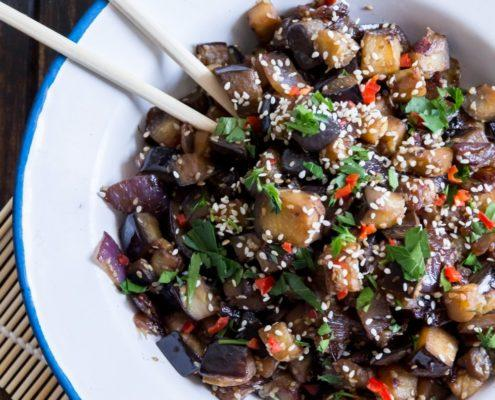 Use Your Noodles - Teriyaki Eggplant With Plum Wine