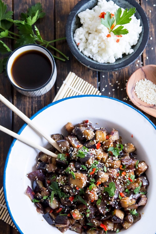 Use Your Noodles - Teriyaki Eggplant With Plum Wine