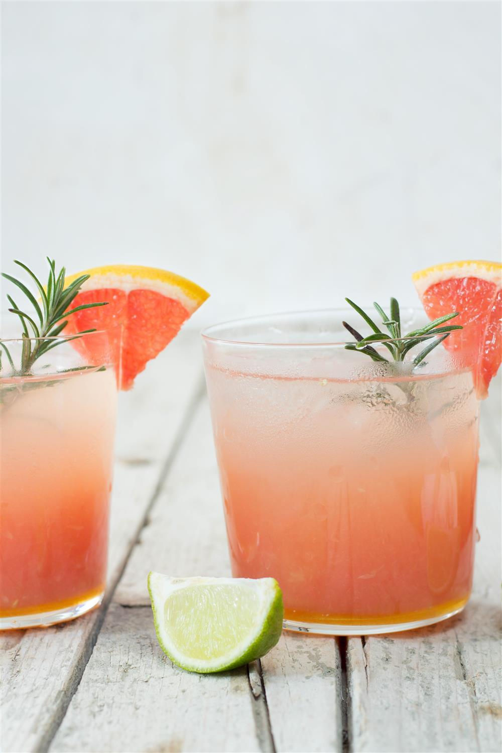 Use Your Noodles - Grapefruit-Lime Coctail with Ginger and Rosemary