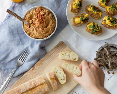 Use Your Noodles - Sardine Pate and Wild Garlic Sandwiches