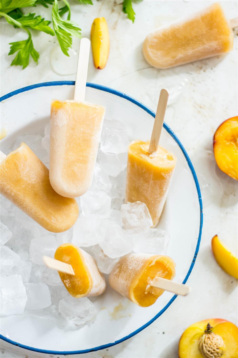 Use Your Noodles - Peach and Celery Ice Lollies
