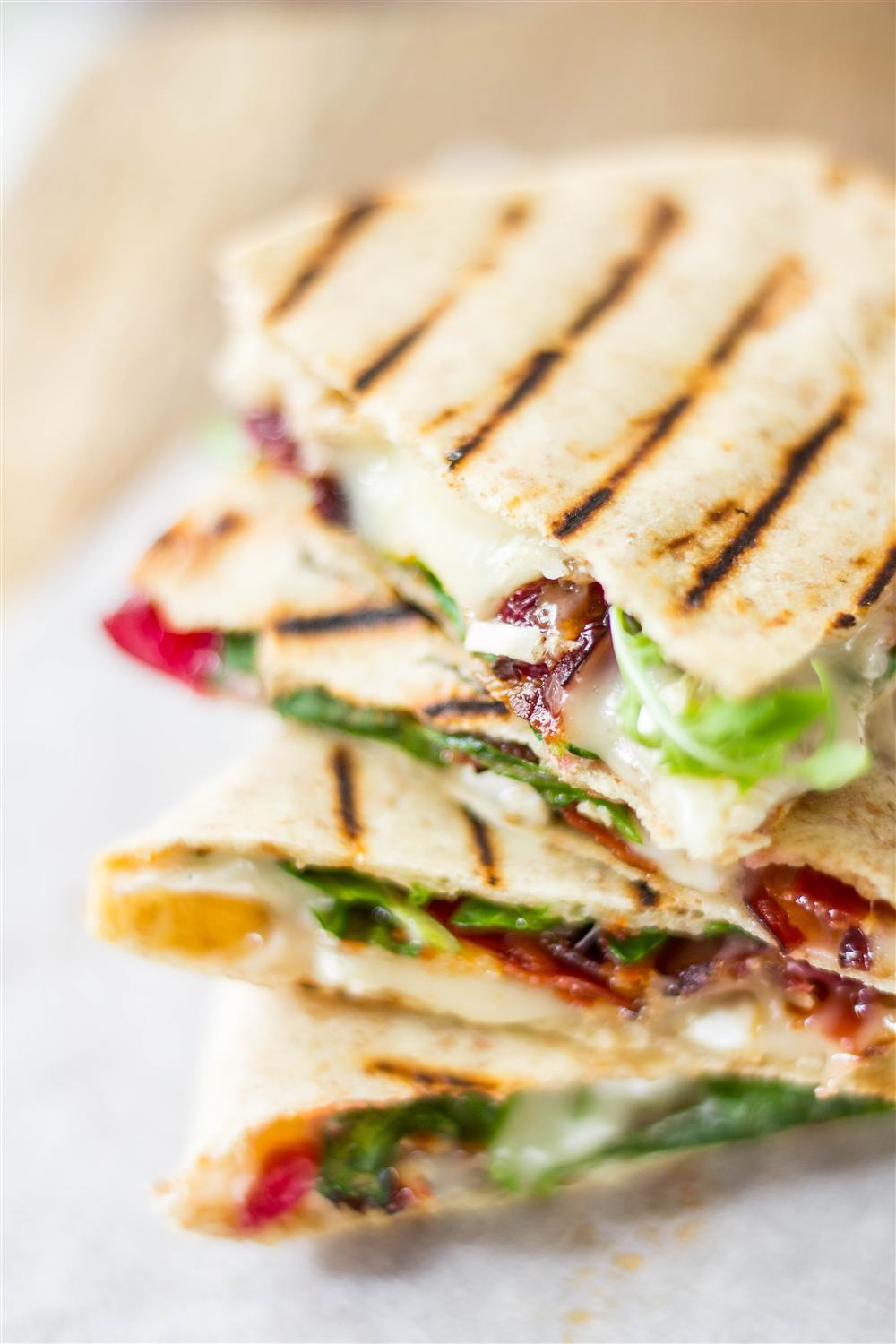 Use Your Noodles - Cherry, Brie & Bacon Grilled Quesadilla