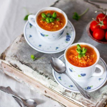 Use Your Noodles - Lemony Tomato Gazpacho