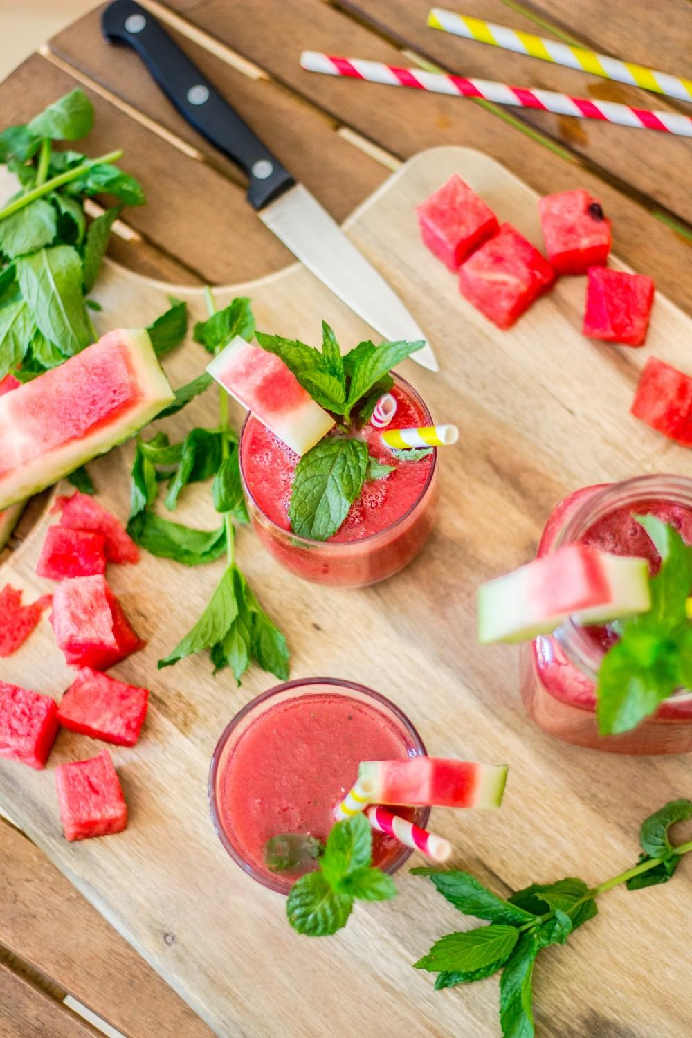 Use Your Noodles - Minty Watermelon Slushie Drink