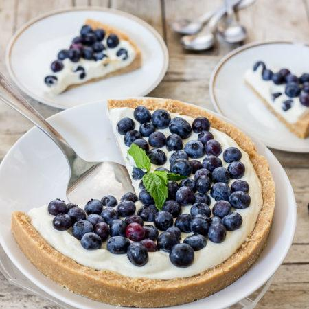 Use Your Noodles - No-Bake Blueberry Cheesecake