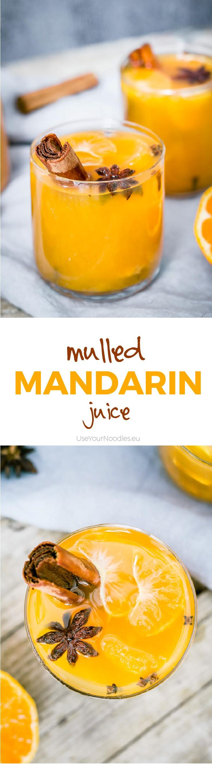 Easy to make from scratch warm autumn mulled mandarin juice! Click to find the whole recipe or pin and save for later!