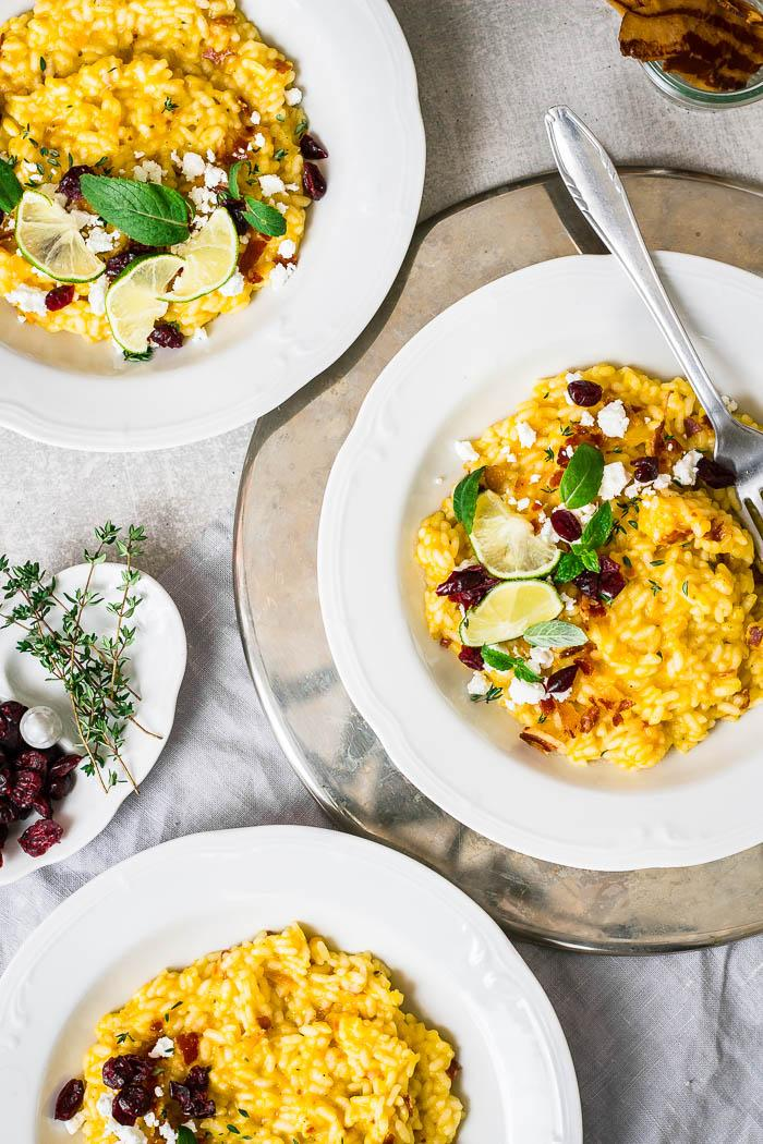 I'm totally in love with each single bite of this delicious pumpkin risotto!
