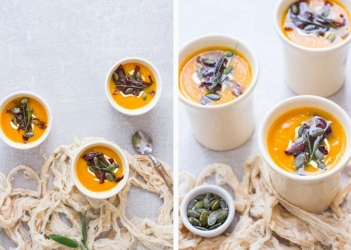 Warm, sweet and spicy pumpkin soup will be your new favorite autumn comfort food!