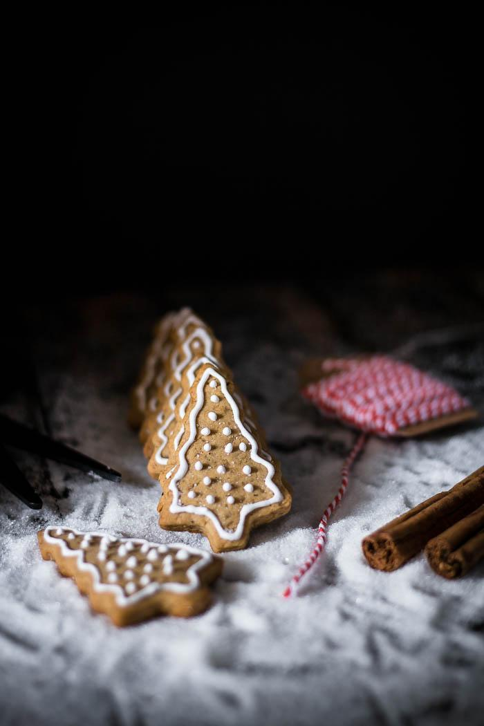 What would Christmas be without some decorated honey gingerbread cookies shaped like Christmas trees? These are super easy and can be done in a food processor.