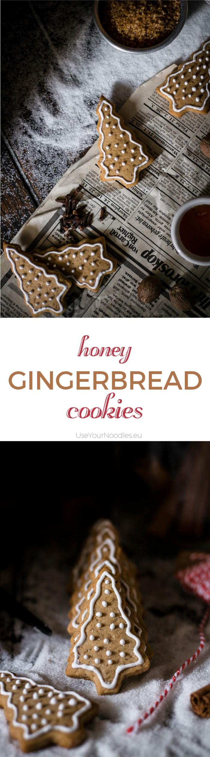 What would Christmas be without some decorated honey gingerbread cookies shaped like Christmas trees? These are super easy and can be done in a food processor. Click to find the whole recipe or pin and save for later!