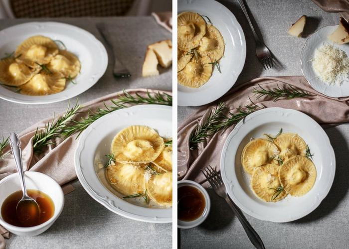 Orange & Pecorino Ravioli with Rosemary Brown Butter - Use ...