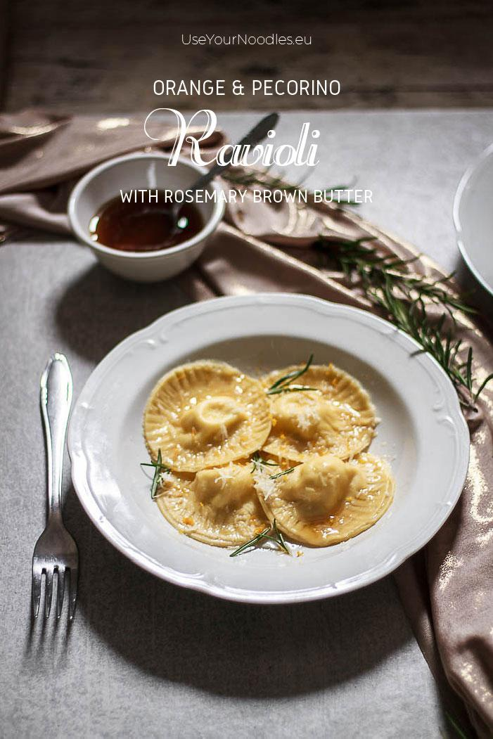 These humble but exciting pecorino ravioli with orange zest and brown butter flavored with rosemary will bring any dinner to a new level! Click to find the whole recipe or pin and save for later!