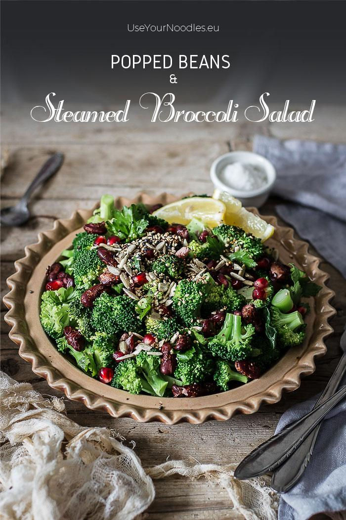 Whoever says comfort food can't be healthy, has obviously never tried popped beans and steamed broccoli salad with toasted spicy nuts and lemony mustard dressing. Such a perfect winter salad. Click to find the whole recipe or pin and save for later!