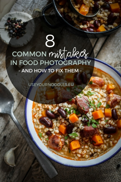 I've gathered some common mistakes in food photography and added some simple fixes that will take your food photography to the next level.