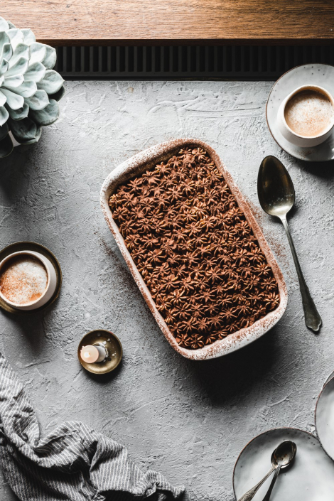 If you're craving a non-traditional Christmas dessert this gingerbread spiced tiramisu will be the perfect treat.