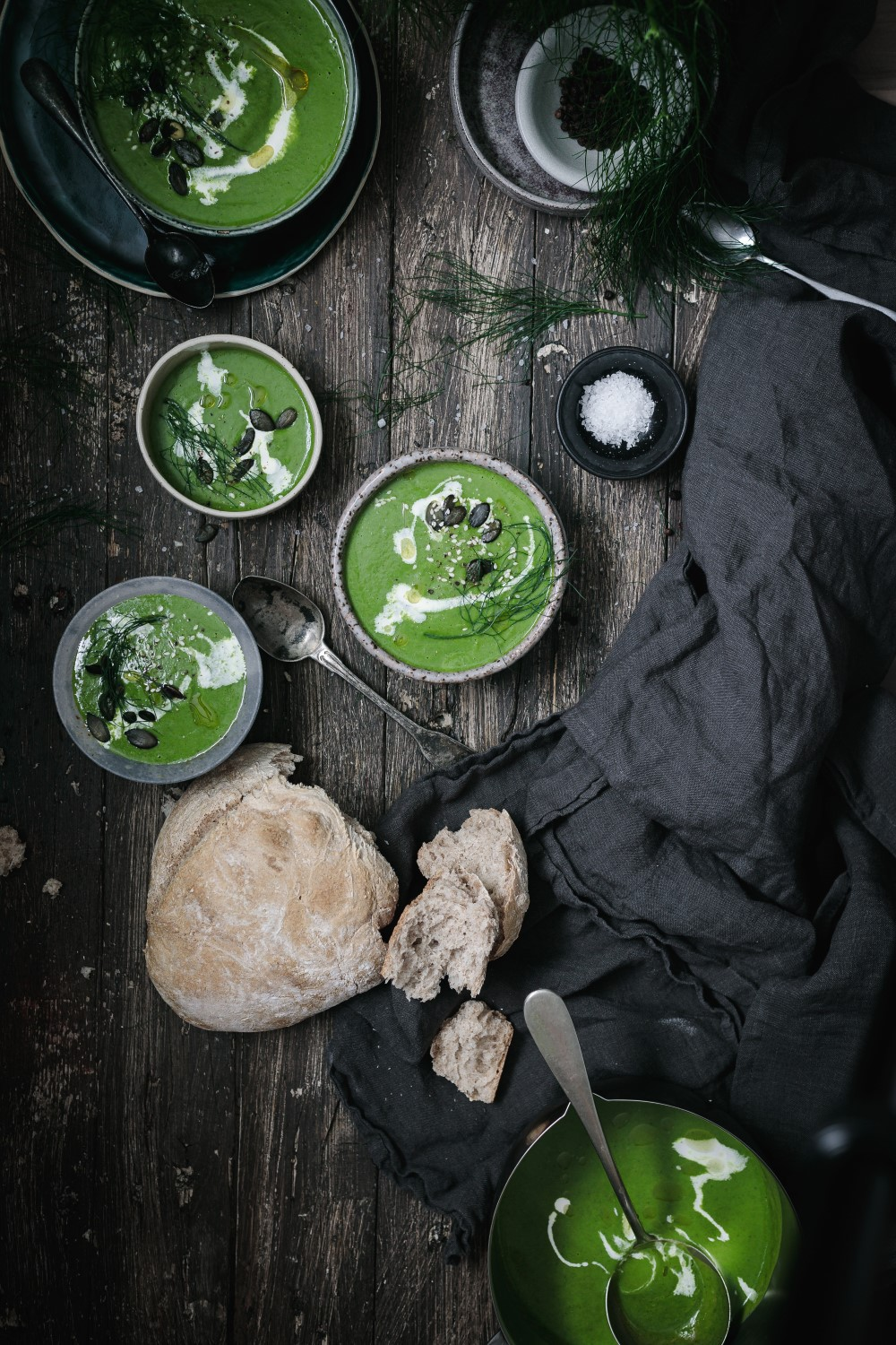 Super easy and quick recipe for delicious healthy chard and fennel soup. Creamy and sweet!