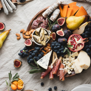 How to make a fall harvest cheese plate using seasonal ingredients that you can find at the local food market or local farms.