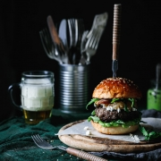 The recipe for these goat cheese and pear chutney burgers are the true fall delights that are going to make every fall grill party a success!