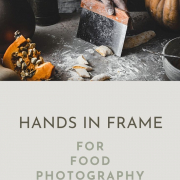 Hands in frame add a human element to food, which brings food to life in a completely new way and make a scene look very natura