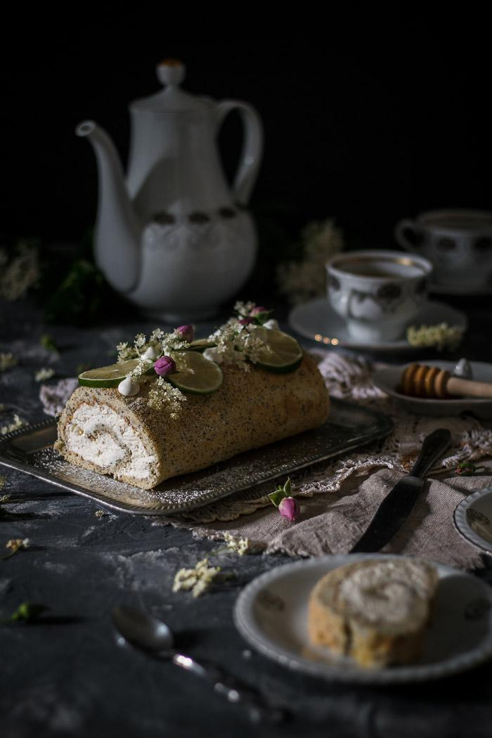Lime Poppy Seed Elderflower Cake Roll Use Your Noodles