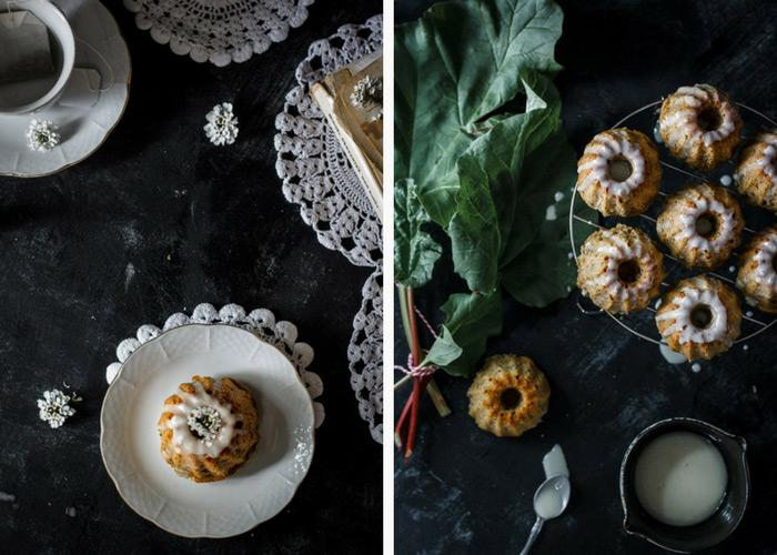 Mini lemon balm rhubarb bundt cakes are amazing. No other words to describe them. They are delicious melt-in-your-mouth mini treats.