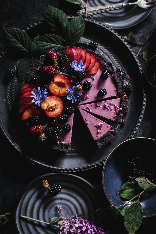 No-bake Blackberry-Plum Pie (Two Ways)