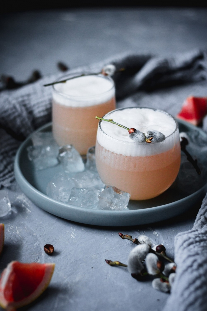 Turn a classic gin and tonic into a delicious gin cocktail by adding pink grapefruit and aquafaba for a fabulous delicate foam.