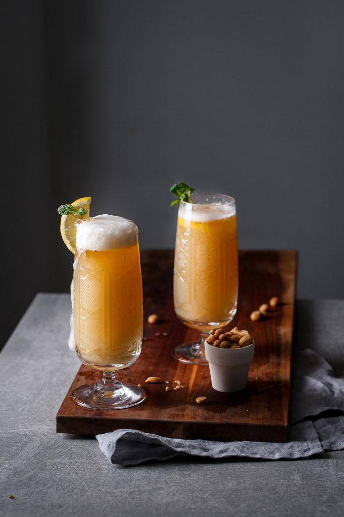 This sparkling pomelo ginger shandy is a nice refreshing drink with a little kick of spice, perfect for lazy sunny late winter days.