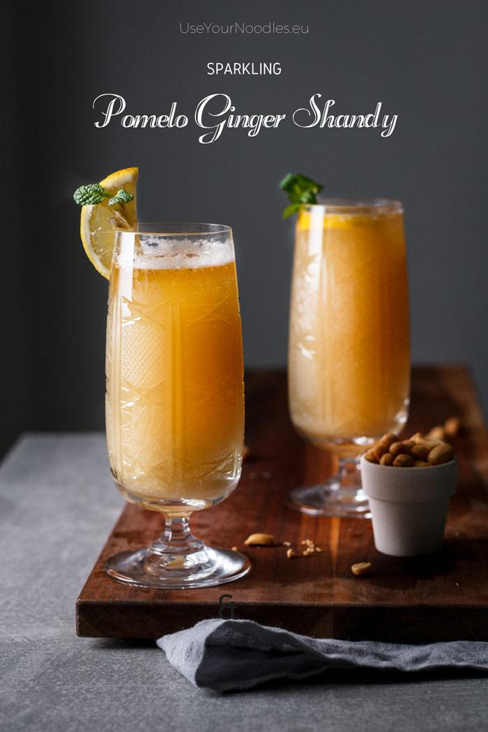 This sparkling pomelo ginger shandy is a nice refreshing drink with a little kick of spice, perfect for lazy sunny late winter days. Click to find the whole recipe or pin and save for later!