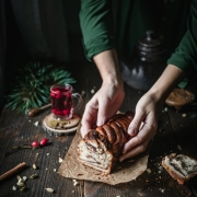This delicious almond butter chocolate babka is made of rich sweet dough and creamy filling. It's so cozy and homey. A perfect Christmas treat that everyone will love.