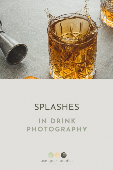 Splashes in drink photography are so much fun right? In my opinion, they brighten up photos of drinks and just make them exciting to look at.