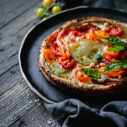 Celebrate the late Summer produce with this delicious summer harvest cream cheese tart.